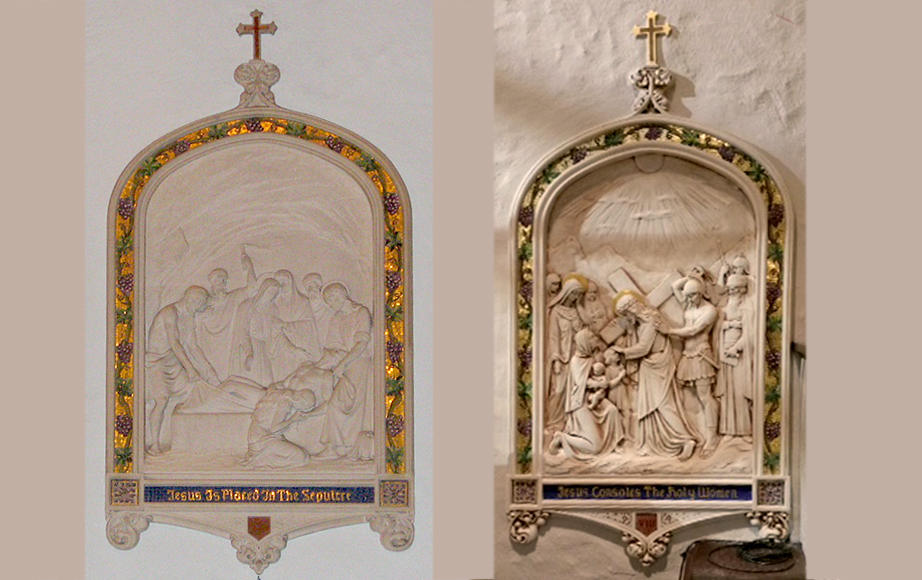 Stations of the Cross before and after