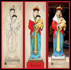 Our Lady of China - Statue Design