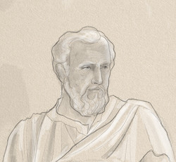 St peter face sketch