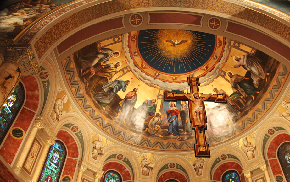 Apse Murals and Crucifix