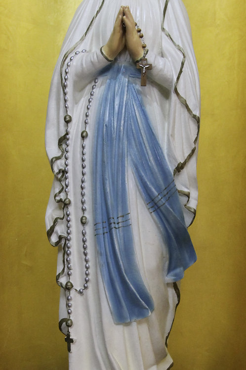 Our Lady of Lourdes Plaster Statue