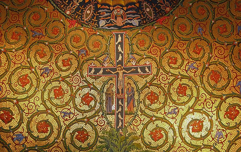 Fresco Mural Faux Mosaic