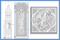 HNC - Statue Detail St John
