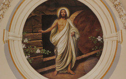 Resurrected Christ oil painting on canvas
