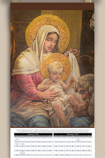 Calendar with image of The Nativity