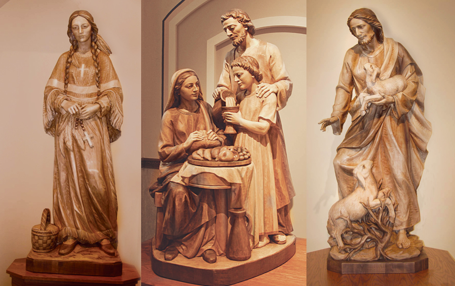 Wood Statues with Natural Finishes