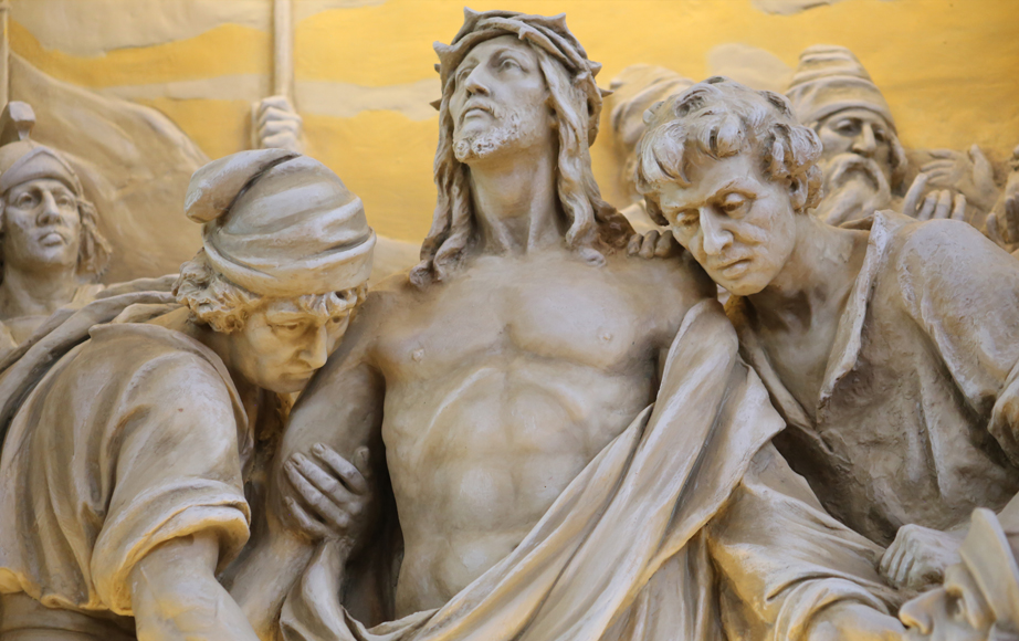 Stations of the Cross high relief