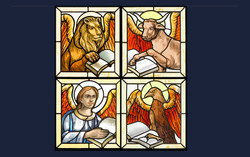 Four Evangelists stained glass windows