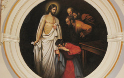 Resurrected Christ with St. Thomas and Apostles oil painting on canvas