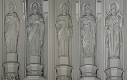 Reredos statuary before