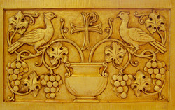 Tabernacle low relief detail