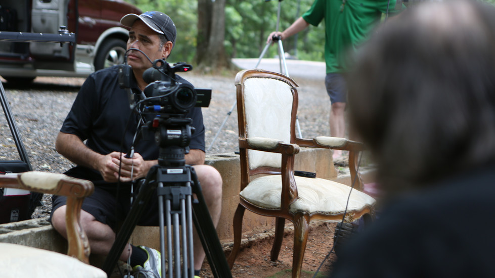 On location in a remote part of Georgia, interviewing Granny Hayes and the kids.