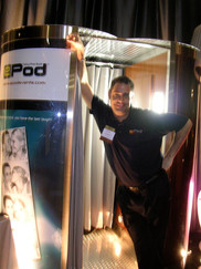 Posing with the ePod Talking Photobooth