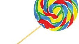 Crazy Candy Factory Swirl Lollipops 55 gram