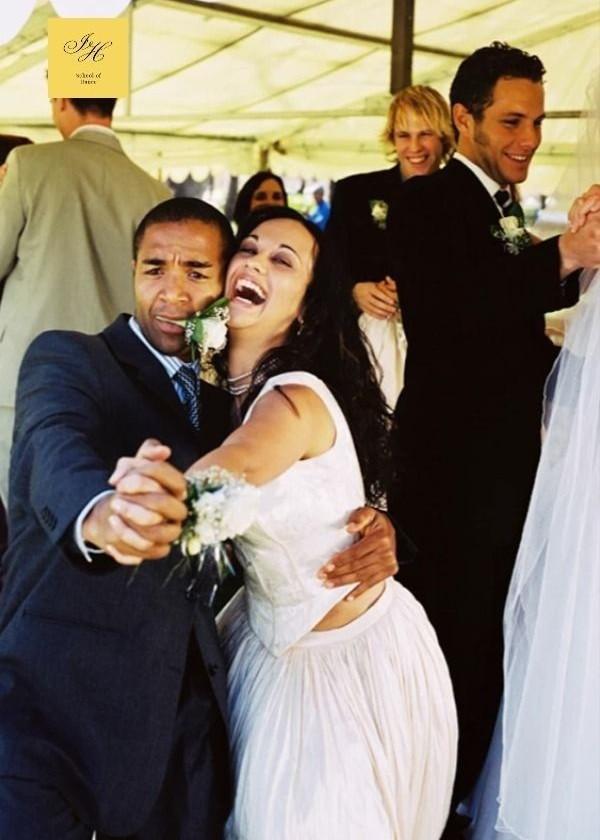 Fun wedding dance shot