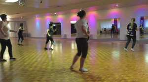 Latin Cardio dance classes with ladies of mixed age groups