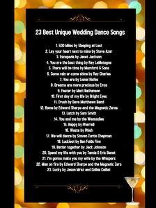 23 Best Unique Wedding Dance Songs