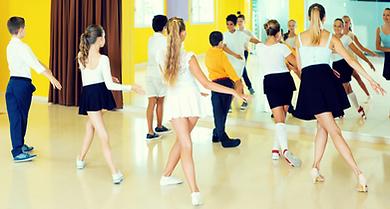 kids in a Latin dance class