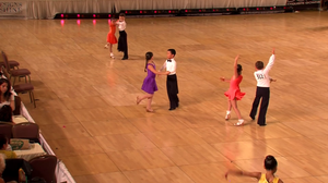 Kids dancing Latin in a dance competition