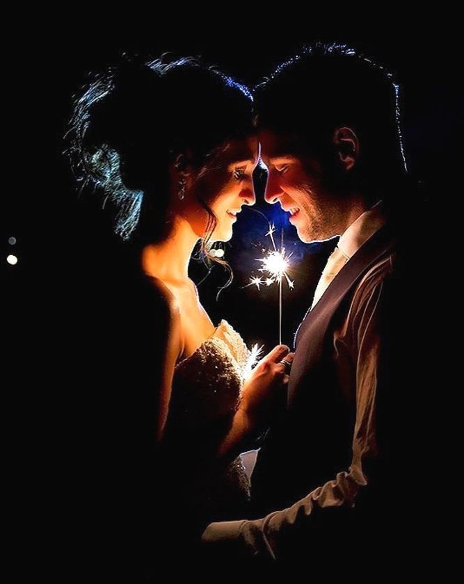 Romantic wedding dance