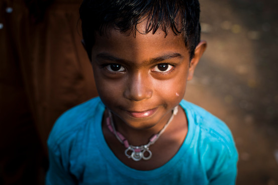 Young boy from slum area. Never attended any school.