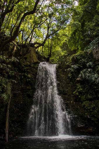 Waterfall on Faial da Terra trail, Azores. Portugal, 2019.
