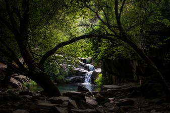 Watefall in Drave. Portugal, 2020.