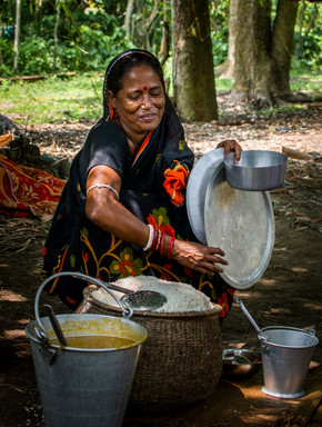 After Fani, a program from local NGO's that seek to help local people, managed to provide one meal a day to 20 families on Rotighar island.