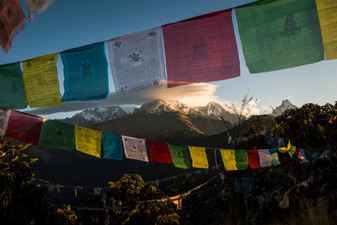 View of the Annapurnas from Poon Hill, Nepal, 2019