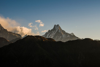 View of Mount Fishtail, Nepal, 2019.