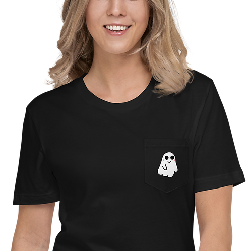 Cute Ghost Pocket T-Shirt
