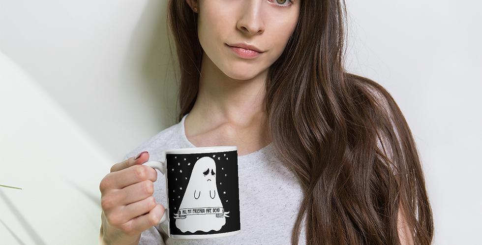 Kawaii Sad Ghost Mug