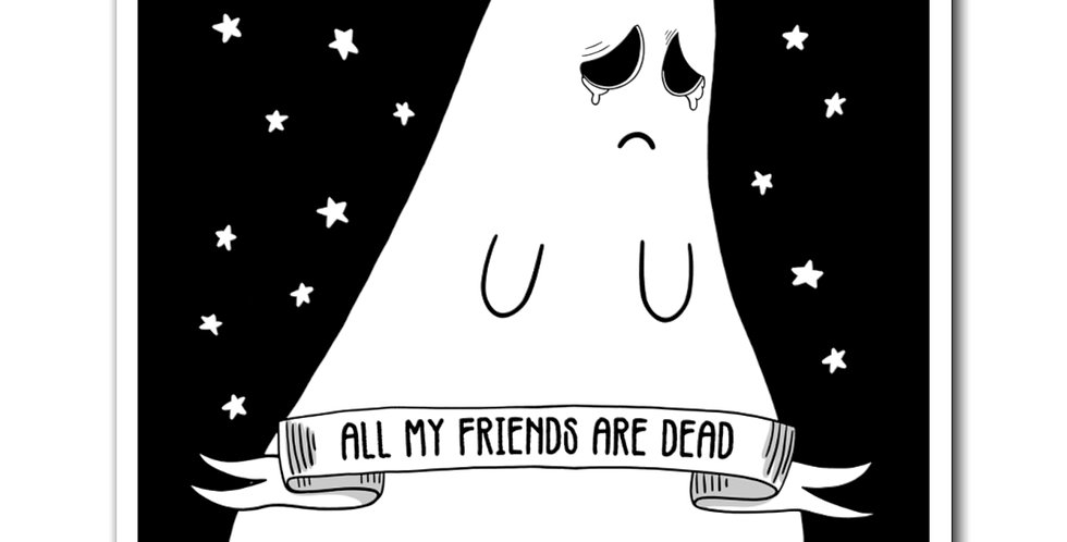 Kawaii Sad Ghost Magnet