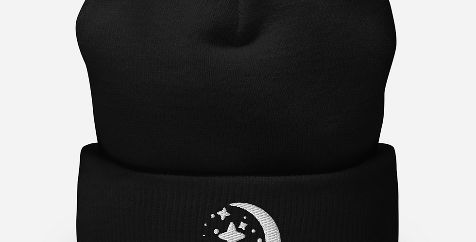 Stars and Moon Mystic Embroidered Beanie