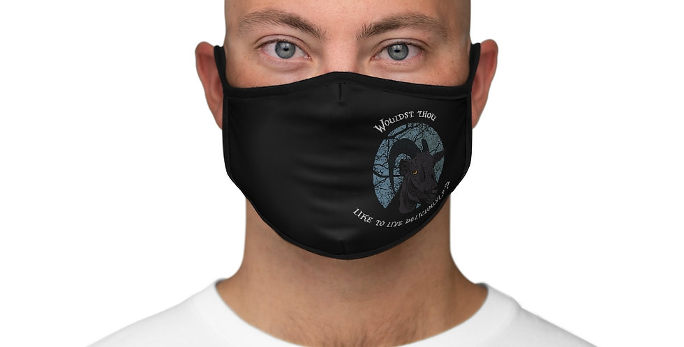 Black Phillip Fitted Polyester Face Mask