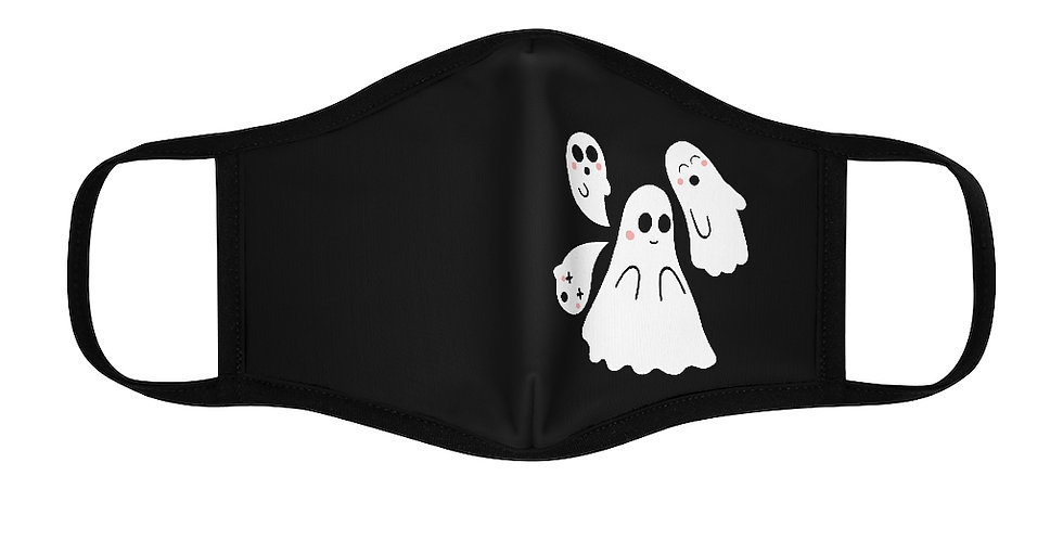 Kawaii Ghosts Fitted Polyester Face Mask