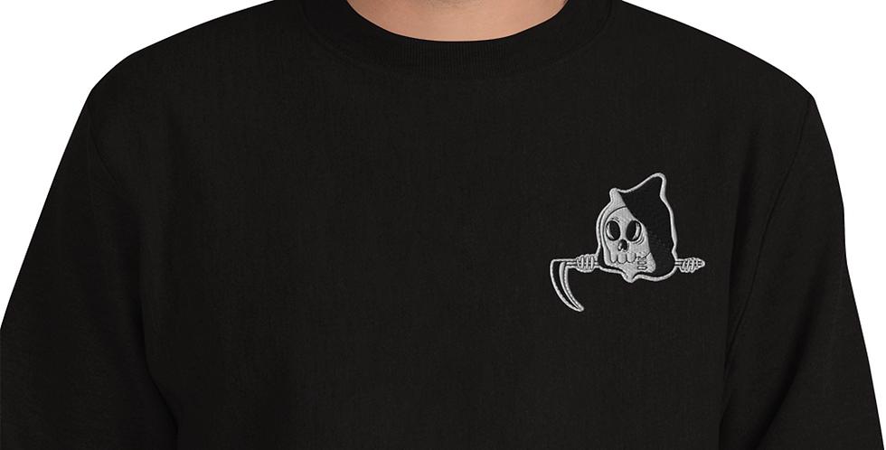 Cute Goth Embroidered Unisex Champion Sweatshirt
