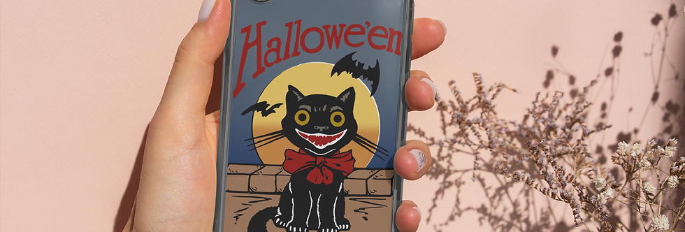 Halloween Black Cat Phone Case