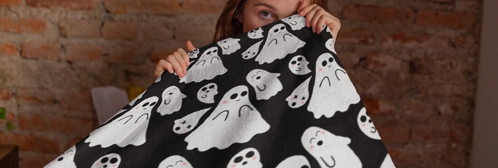 Cute Kawaii Ghost Blanket