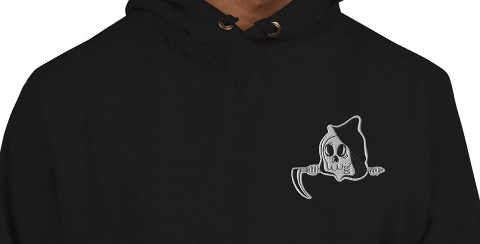 Cute Gothic Embroidered Unisex Champion Hoodie