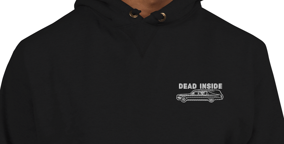 Embroidered Hearse Champion Hoodie