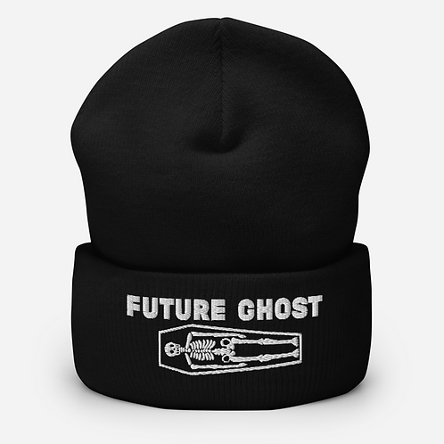 Future Ghost Cuffed Gothic Beanie