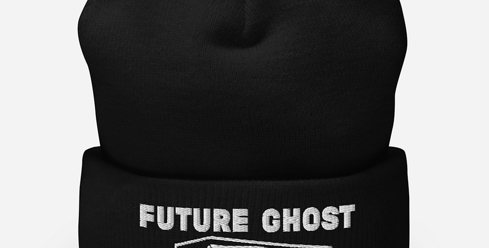 Future Ghost Cuffed Gothic Beanie