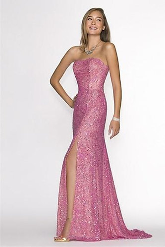 SCALA PINK BUSTIER GOWN