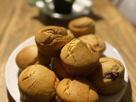 Muffins de compota de morango