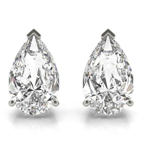 795b52b8ab26 A pair of pear shaped diamond studs pictured with appx 1ctw pear shape  center stones
