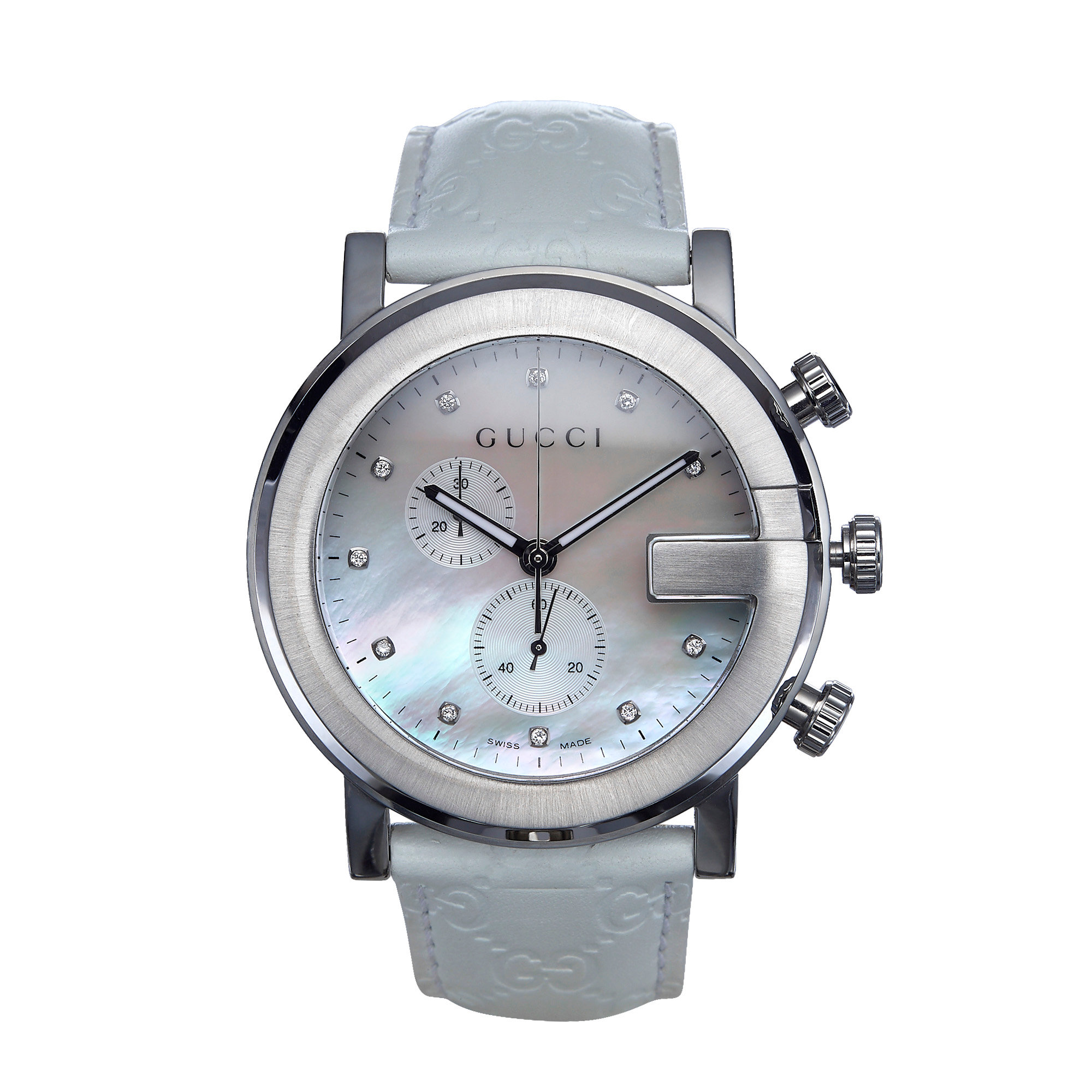 57b0c136550 GUCCI G Chrono Mother of Pearl Watch