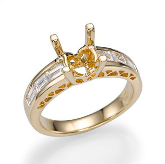18K Yellow Gold Diamond Engagement Ring Setting (0.71 CTW)