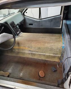 Unique Mobility Electrek Panel Van Interior Strip down