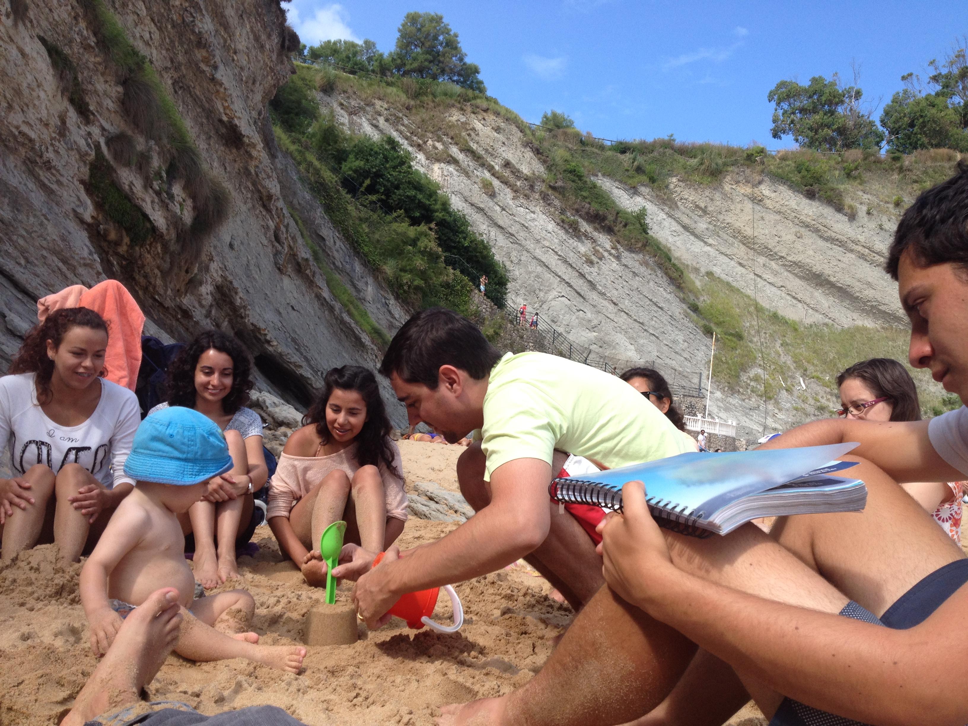 Oración en la playa